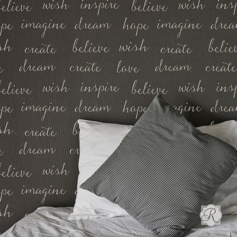 Dream Lettering Wall Stencils Inspirational Wall Quotes