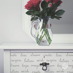 Modern or Shabby Chic Painted Furniture using Typography Letter Stencils - Dream On Lettering Furniture Stencils - Royal Design Studio