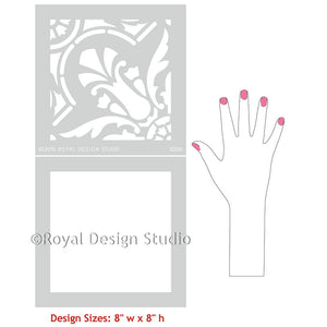 Spanish Tile Designs for Painting Pattern on Walls and Floors - Majorca Tile Stencils - Royal Design Studio
