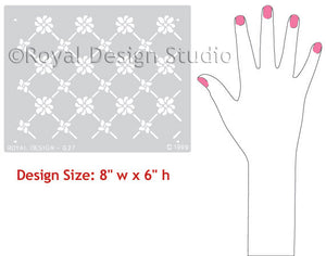 Victorian Grillework Furniture Stencils - Classic European Design - Royal Design Studio