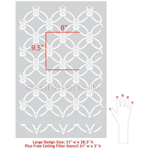 Macrame Knotted Rope - Woven Knots Wallpaper Design - Royal Design Studio Wall Stencils