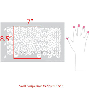 DIY Project and Painting Small Stencils with Fabric Weave Pattern - Chunky Cable Knit Furniture Stencils - Royal Design Studio