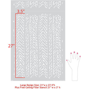 Neutral Home Decor Idea Painting with Wall Texture Design - Funky Fibers Wall Stencils - Royal Design Studio