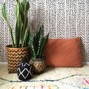 Modern Wallpaper Design for Easy DIY Projects - Funky Fibers Wall Stencils - Royal Design Studio