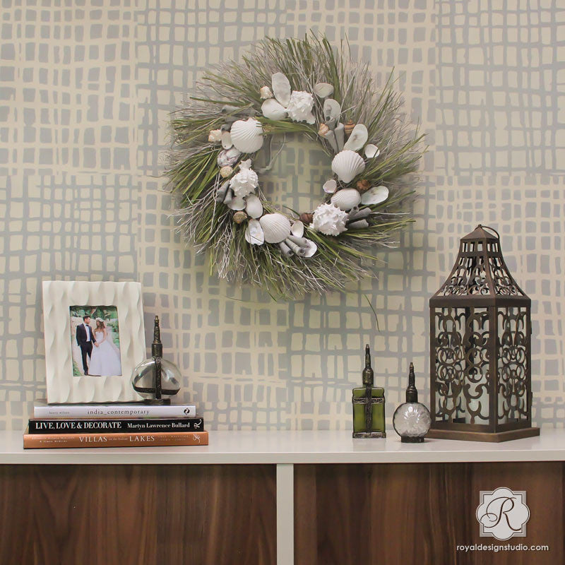 bedroom stencil ideas.  Modern Bedroom Makeover using Large Wallpaper Texture Wall Designs DIY Loose Weave Stencils Woven for Painting