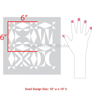 Painting Furniture Projects with Modern Tribal Design and Geometric Pattern - Royal Design Studio Stencils