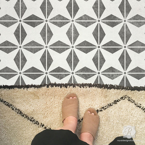 Floor Stencils Great Stencil Ideas For Painting Floors