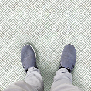 Modern Floor Stencils - Geometric Tile Stencils for Painting - Royal Design Studio
