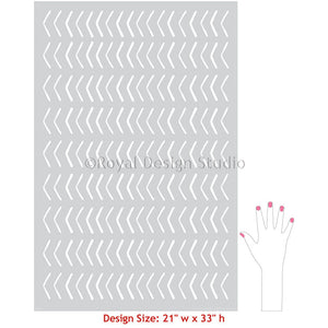 Tribal Arrow Wall Pattern Stencils - African Wall Stencils for Painting Designs - Royal Design Studio