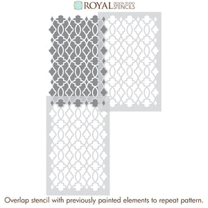 Moroccan Trellis Wallpaper Wall Stencil - Paint Stencil for DIY Wall Decor - Royal Design Studio Wall Stencils for Do It Yourself Decorating