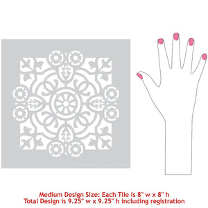 Classic Tile Stencils - Old World European Style Home Decor - Paint Stencils for Floor Tiles - Royal Design Studio Stencils
