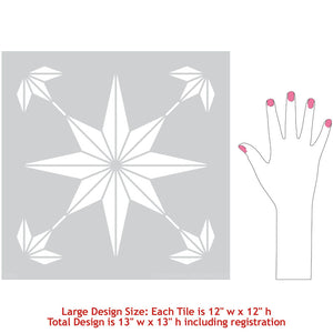 Decorative Floor Tiles - DIY Stencils for Floors - Stencils for Painting Floor Tiles - Royal Design Studio Stencils