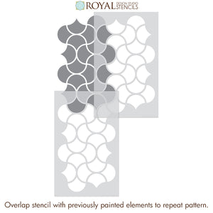 Decorative Wall Design Stencils for Painting DIY Wall Mural - Art Deco Wall Stencils - Royal Design Studio
