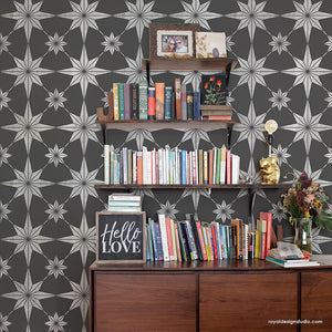 Large Stencil for Painting Tiles - Tiled Wall Art Stencils - You're A Star Tile Stencil from Royal Design Studio