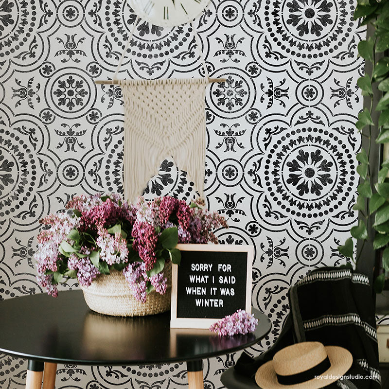NEW! Chatsworth Tile Stencil
