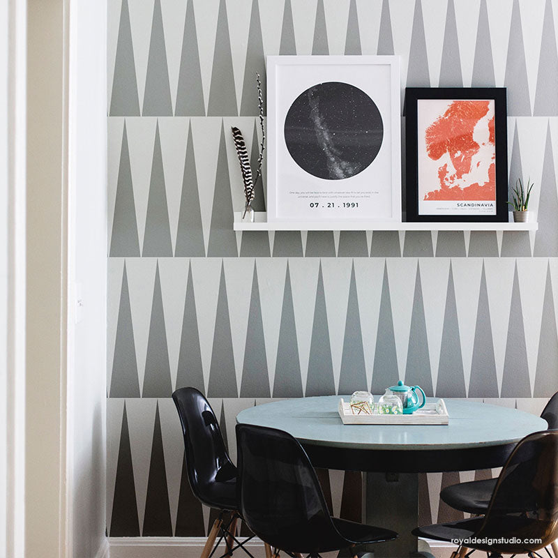NEW! To The Point Modern Wall Stencil