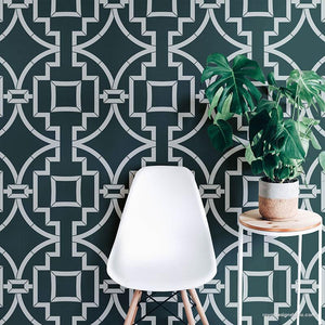 Large Stencils - Modern Wall Stencils for Painting Geometric Wallpaper Design - Royal Design Studio Stencils