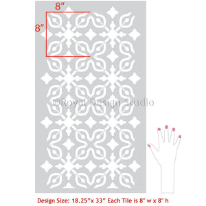 DIY Floor Decor Painting Stencils - Bathroom Tiles Stencils for Painting Floors - Royal Design Studio