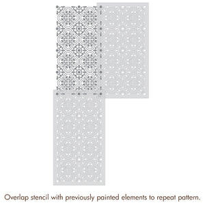 Tile Stencils for Painting Floor - Floor Stencils for Painting Tiles - Royal Design Studio
