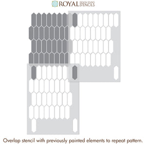 How to Stencil Tiles on Bathroom Floor or Kitchen Wall Stencils - Royal Design Studio royaldesignstudio.com