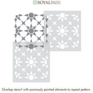 Painting Porch Concrete with Tile Stencils - Royal Design Studio royaldesignstudio.com