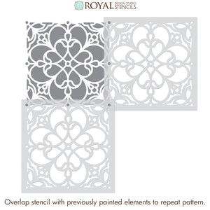 NEW! Estevan Tile Stencil