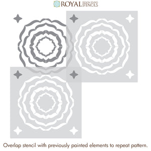 NEW! Ripple Effect Tile Stencil