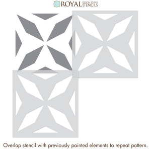 NEW! Chrystal Tile Stencil