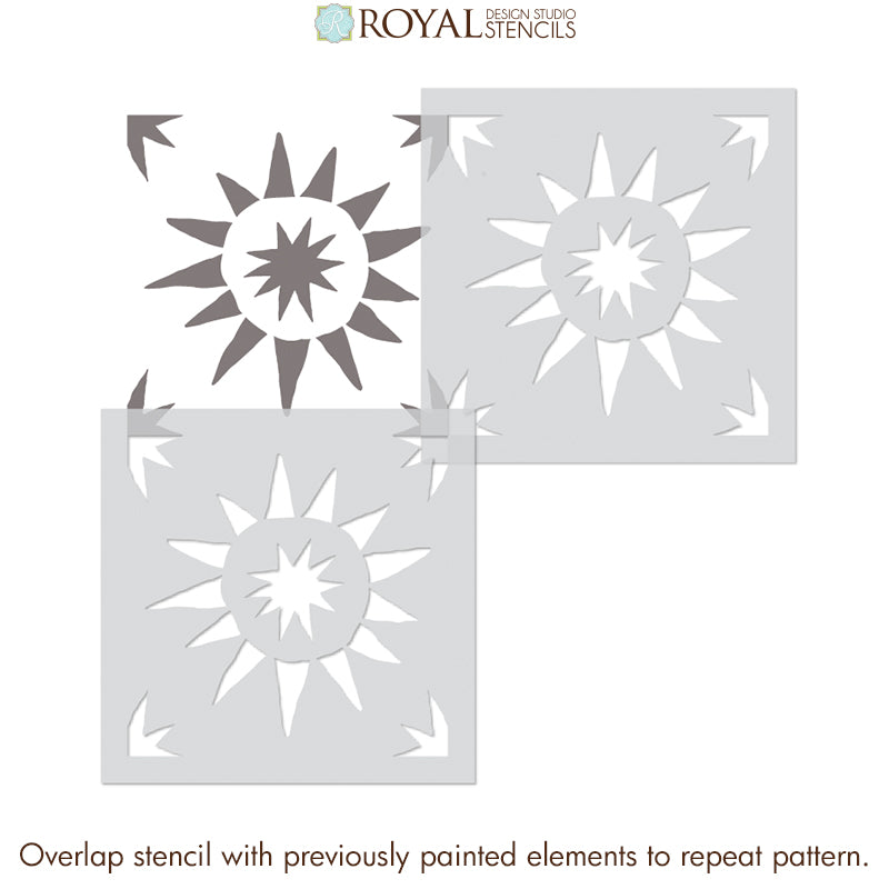 NEW! Starburst Tile Stencil