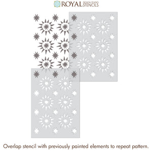 NEW! Starburst Tile Allover Stencil