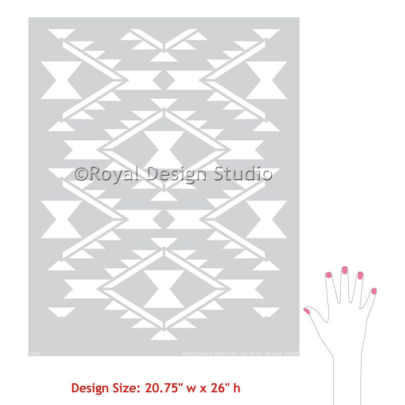 Navajo Dreams Damask Wall Stencil