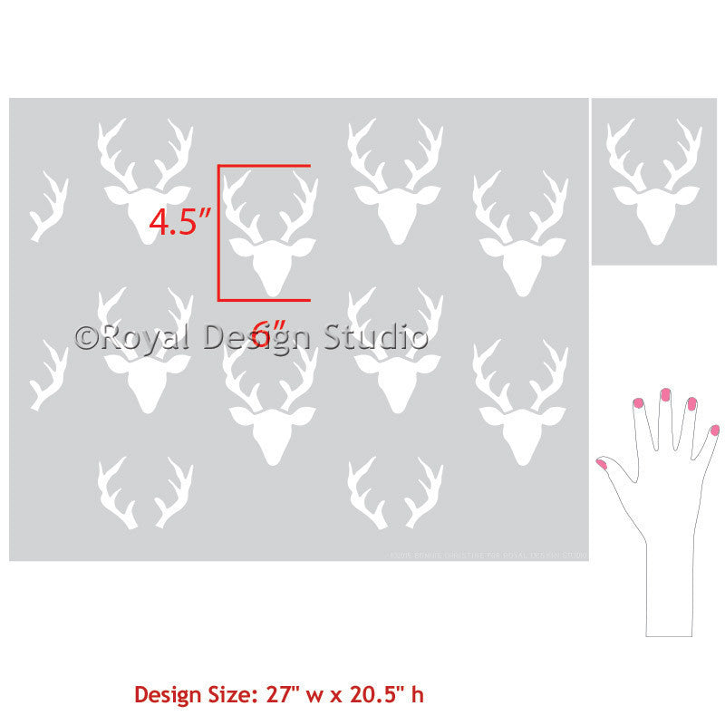 Decorating Nursery Decor Ideas with Forest Animals and Deer - Bonnie Christine Designer Wall Stencils for Royal Design Studio