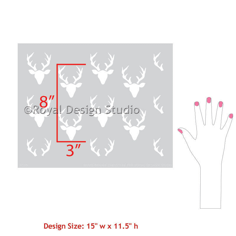 Decorating Nursery Decor Ideas with Forest Animals and Deer - Bonnie Christine Designer Furniture Stencils for Royal Design Studio