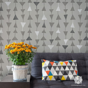 Geometric Triangles Wall Stencils - Royal Design Studio