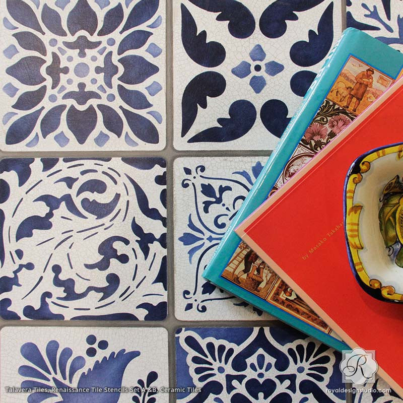 Tile Stencils, Talavera Mexican Tiles, European design