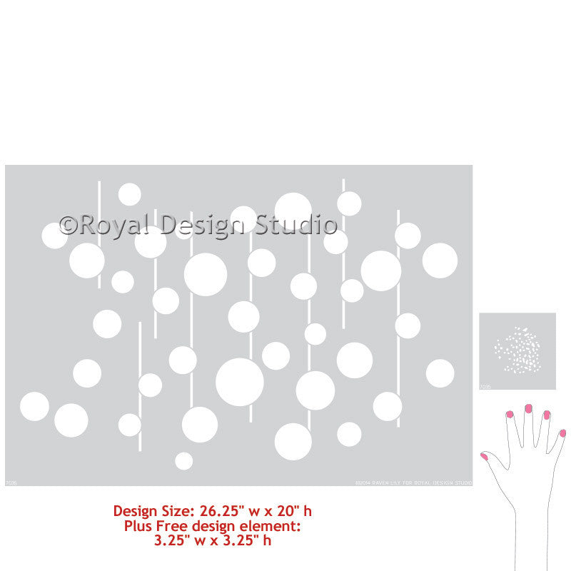 African and Tribal Circles Wall Stencils - Royal Design Studio