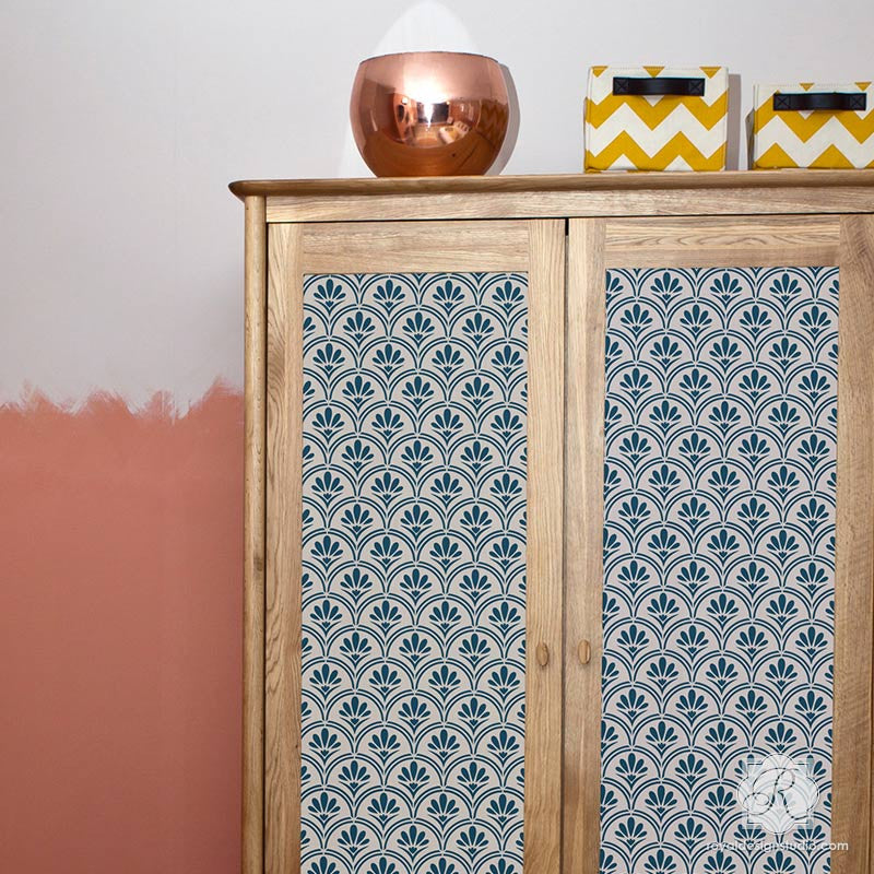 Tribal Modern and Retro Furniture Stencils for Decor  Royal