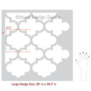 Moroccan or European Trellis Wall Stencils for DIY Painted Decor - Royal Design Studio