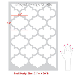 Painting Accent Wall in Bedroom or Living Room with Allover Wallpaper Wall Stencils - Royal Design Studio