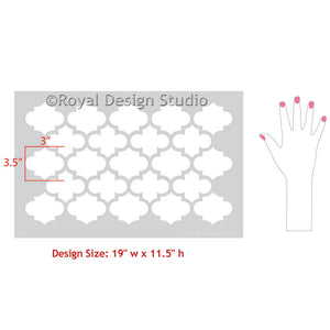 Easy DIY Decorating Furniture, Table Tops, Dressers with Exotic Trellis Stencils - Royal Design Studio