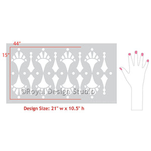 Border Stencils and Wall Stencils with Retro or Modern Style - Royal Design Studio