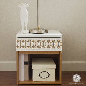 DIY Painted Furniture Projects using Cute Patterns and Designer Stencils - Royal Design Studio