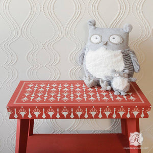 Painting Patterns on Tables and Decor with Furniture Stencils - Royal Design Studio