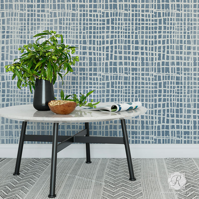 Loose Weave Wall Stencil