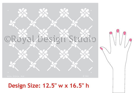 Victorian Grillework Wall Stencils - Classic European Design - Royal Design Studio