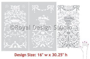 Classic Stencil Grand Panel for Painting Doors, Furniture, Cabinets - Royal Design Studio