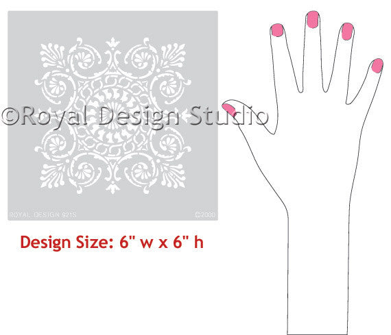 Classic European and Italian Designs Tile Wall Stencils - Royal Design Studio