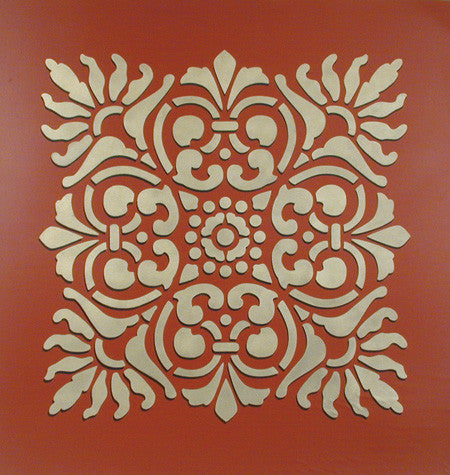 Wall Stencil Large Verona Tile Stencil Royal Design Studio