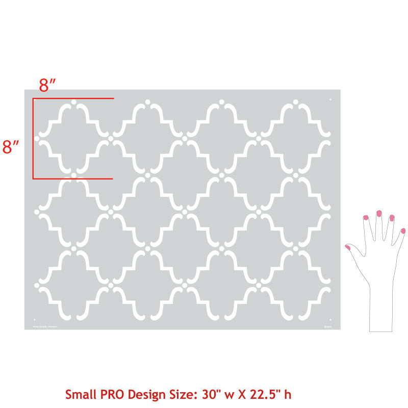 Moorish Trellis Furniture Stencil