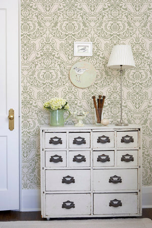 Fortuny Damask Wall Stencil